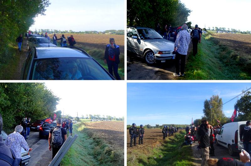 Des dizaines de voitures d'aficionados ont dû rebrousser chemin