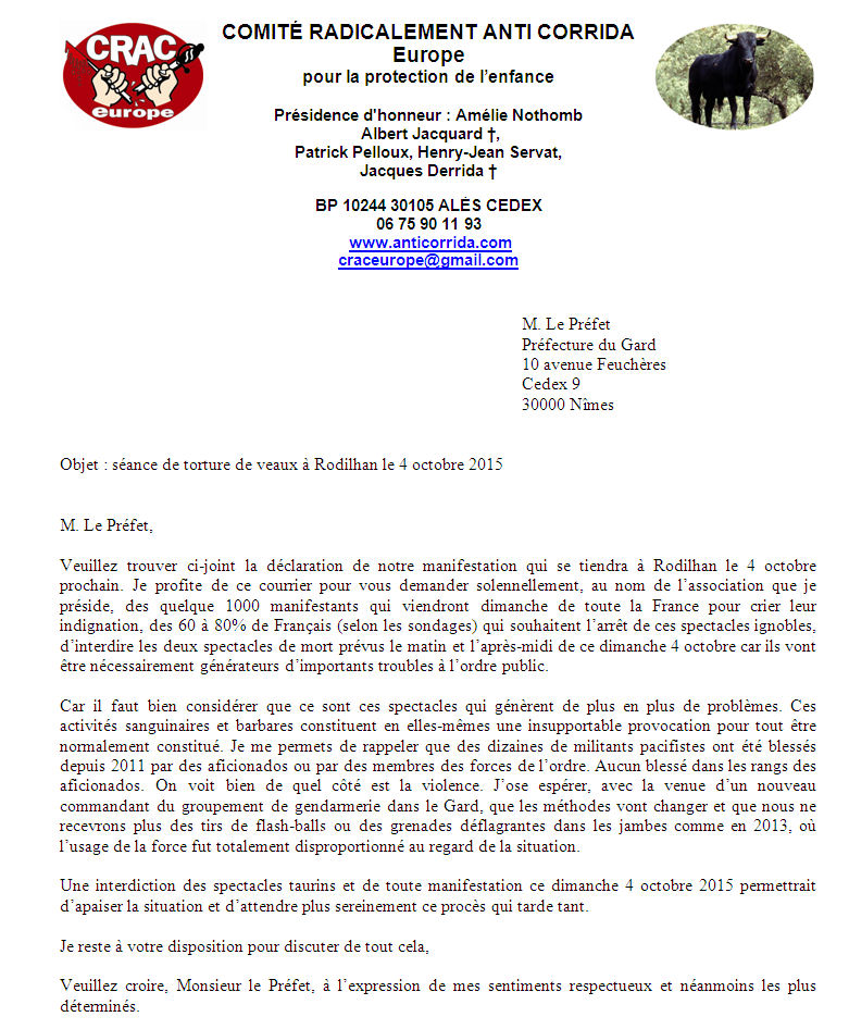 rodilhan 2015 préfet gard