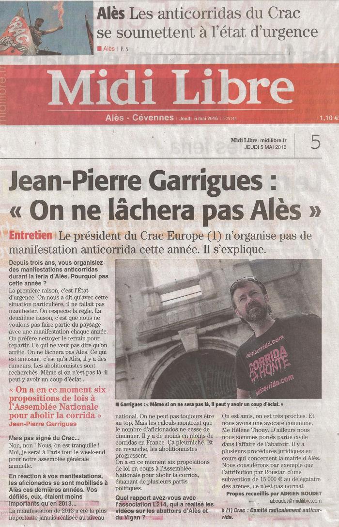 Midi Libre 05 05 16