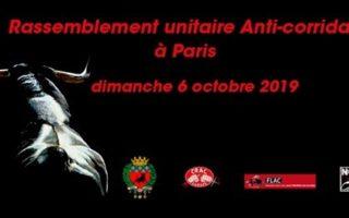 Rassemblement Unitaire Anti corrida à Paris